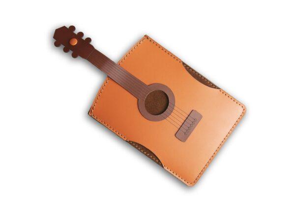 Chitarra Porta passaporto o documenti in pelle PT92
