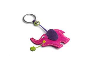 Portachiavi elefante rosa