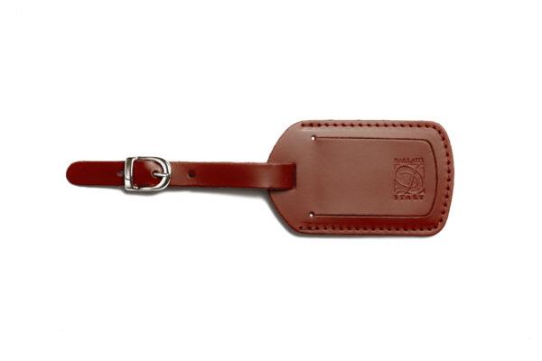 PT 36 15 Etichetta valigia in pelle pigmentata marrone