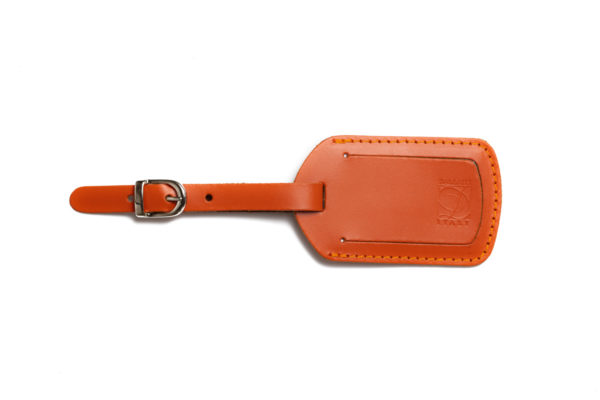 PT 36 7 Etichetta valigia in pelle pigmentata arancione