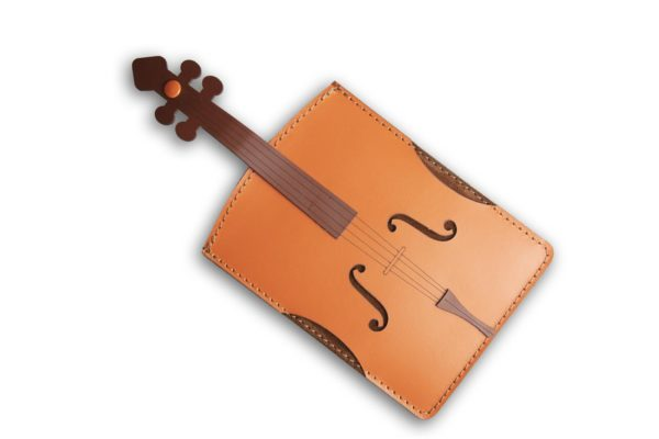 Porta passaporto o documenti in pelle violino PT91
