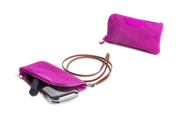 pochette porta cellulare rosa