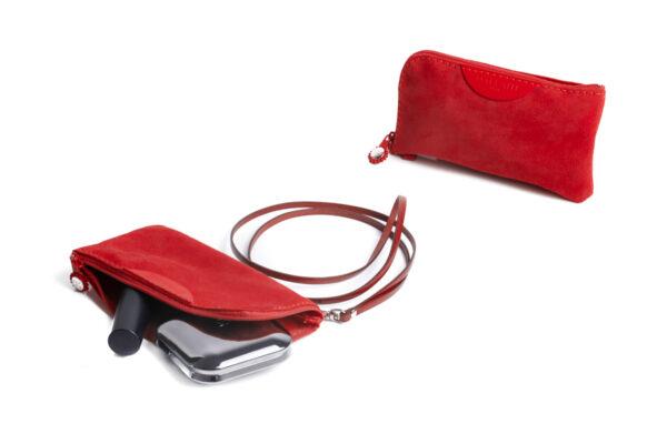 Pochette porta cellulare rossa