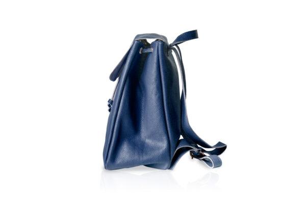 Zaino in pelle morbida BT880 colore blu