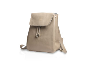 Backpack in soft leather BT880 turtledove color