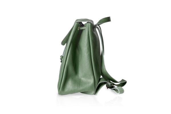Zaino in pelle morbida BT880 colore verde