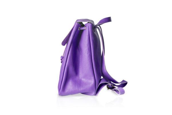 Zaino in pelle morbida BT880 colore viola