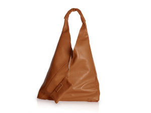 Brown leather bag with inner pouch