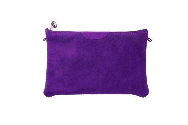pochette viola pelle tracolla