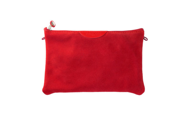 pochette rossa pelle tracolla