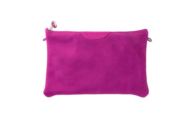 pochette rosa pelle tracolla