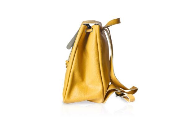 Zaino in pelle morbida BT880 colore giallo