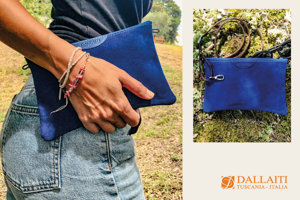 borsa pochette con tracolla