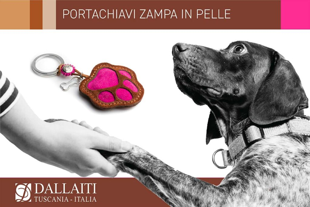 regali per amanti dei cani portachiavi zampa