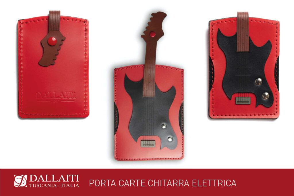 porta carte chitarra elettrica