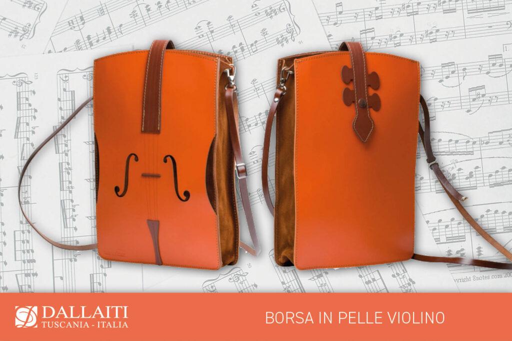 regalo amante della musica borsa violino